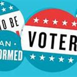 Graphic about becoming an informed voter